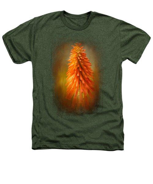 Orange Blast In The Garden Heathers T-Shirt by Jai Johnson