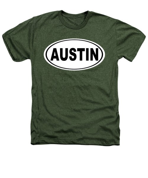 Oval Austin Texas Home Pride Heathers T-Shirt by Keith Webber Jr