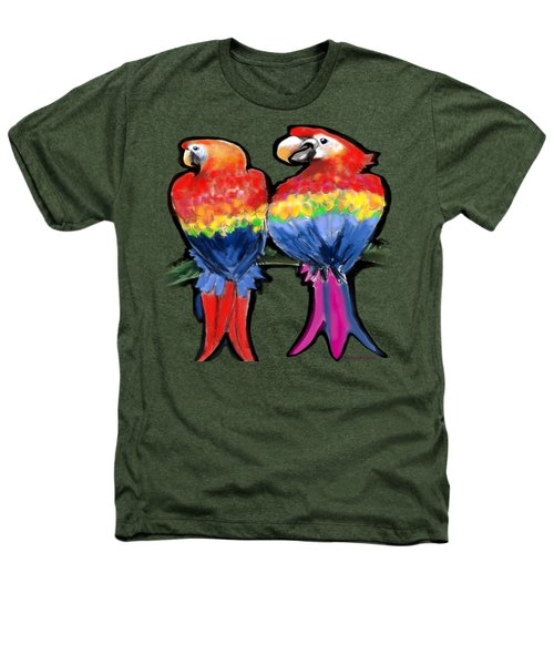 Parrots Heathers T-Shirt by Kevin Middleton