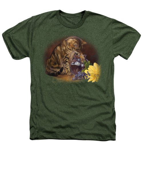 Paw In The Vase Heathers T-Shirt by Lucie Bilodeau