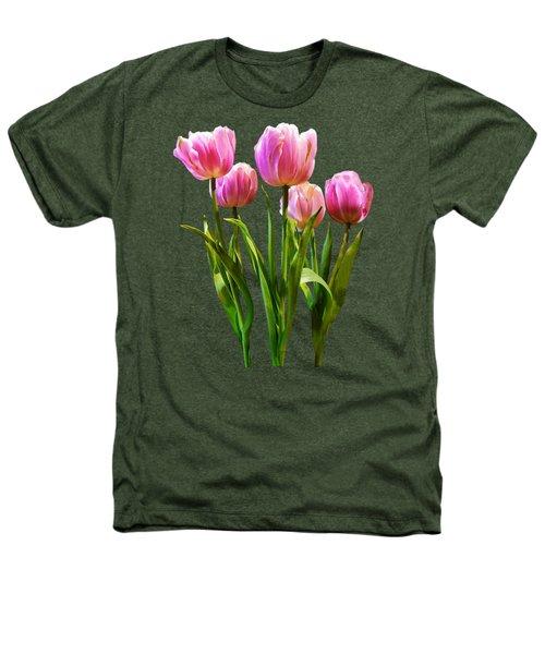 Pink Pastel Tulips Heathers T-Shirt by Susan Savad