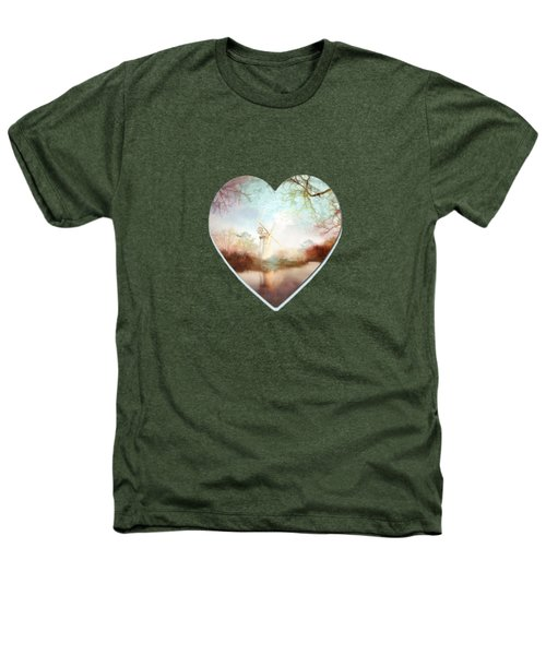 Porcelain Skies Heathers T-Shirt by Valerie Anne Kelly