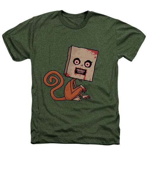 Psycho Sack Monkey Heathers T-Shirt by John Schwegel
