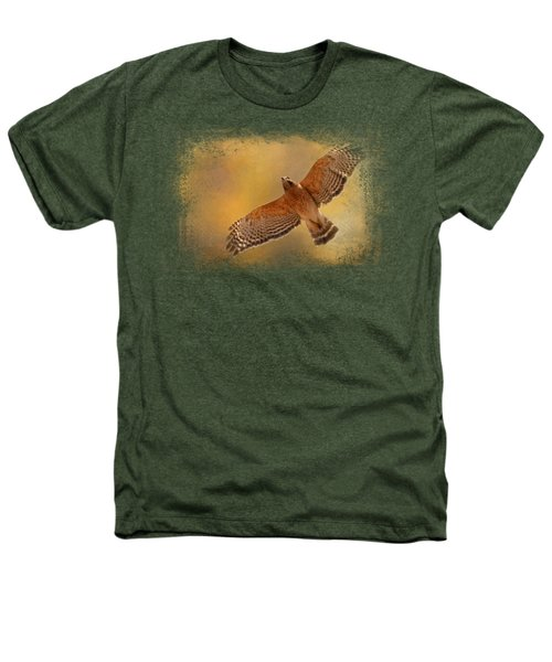 Raptor's Afternoon Flight Heathers T-Shirt by Jai Johnson