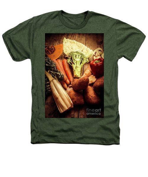 Raw Vegetables On Wooden Background Heathers T-Shirt by Jorgo Photography - Wall Art Gallery