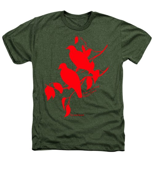 Red Doves Heathers T-Shirt by The one eyed Raven