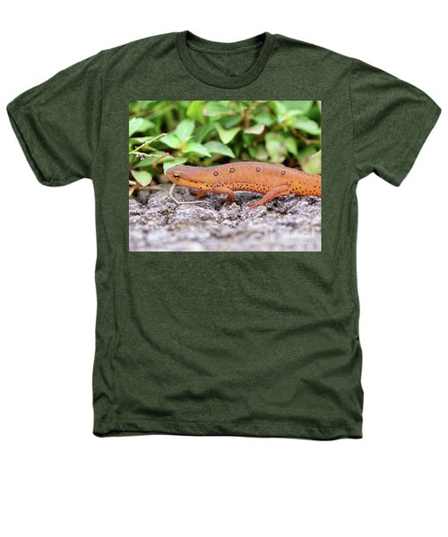 Red Eft - Close Up Heathers T-Shirt by Kerri Farley