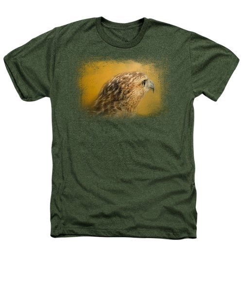 Red Tailed Hawk At Sunset Heathers T-Shirt by Jai Johnson