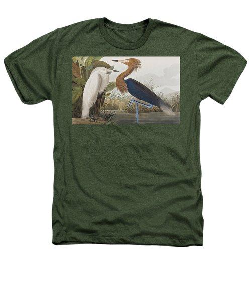 Reddish Egret Heathers T-Shirt by John James Audubon