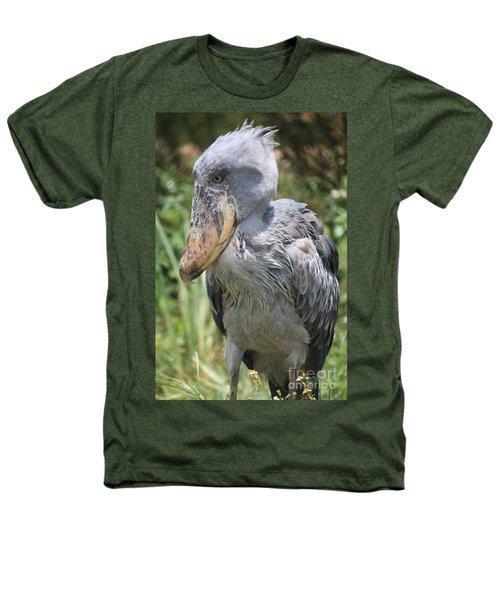 Shoebill Stork Heathers T-Shirt by Carol Groenen