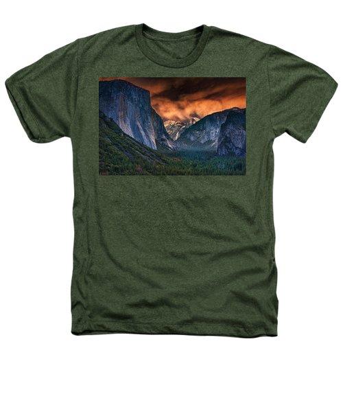 Sunset Skies Over Yosemite Valley Heathers T-Shirt by Rick Berk