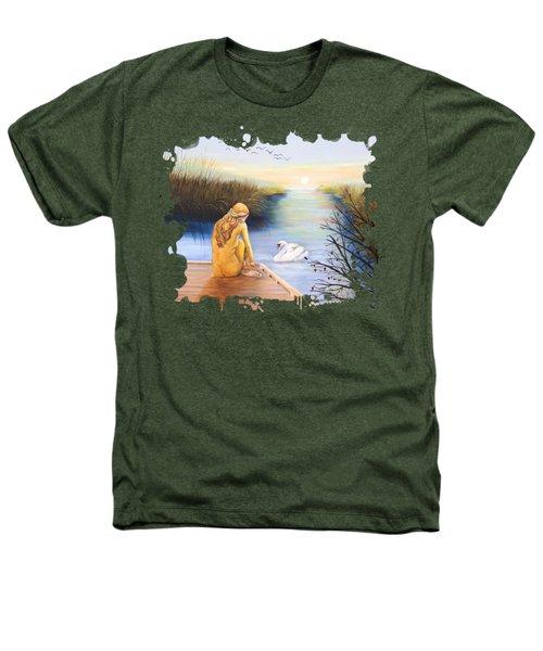 Swan Bride T-shirt Heathers T-Shirt by Dorothy Riley