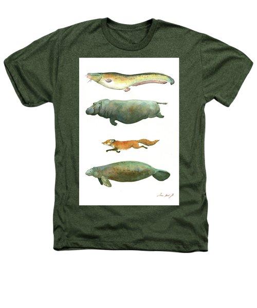 Swimming Animals Heathers T-Shirt by Juan Bosco