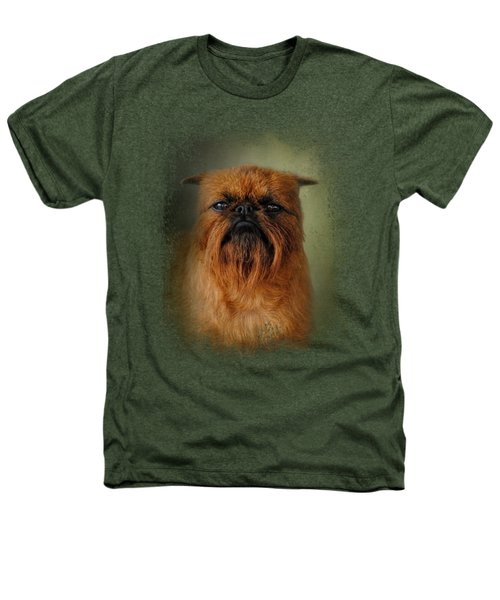 The Brussels Griffon Heathers T-Shirt by Jai Johnson