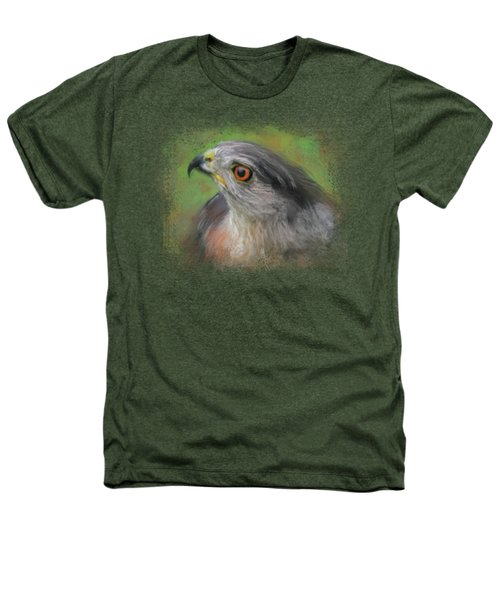 The Sharp Shinned Hawk Heathers T-Shirt by Jai Johnson