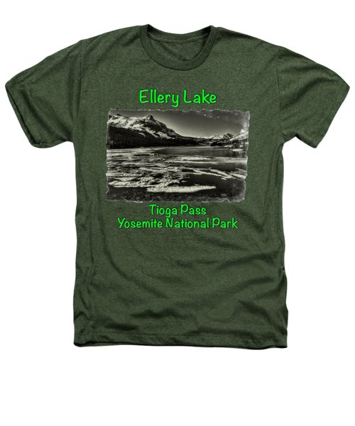 Tioga Pass Lake Ellery Early Summer Heathers T-Shirt by Roger Passman