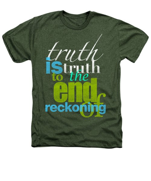 Michael Jackson Truth Is Truth Heathers T-Shirt by D Francis