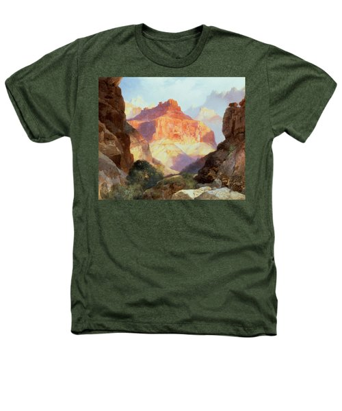Under The Red Wall Heathers T-Shirt by Thomas Moran