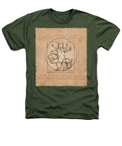 Vitruvian Squirrel Heathers T-Shirt by Katherine Nutt