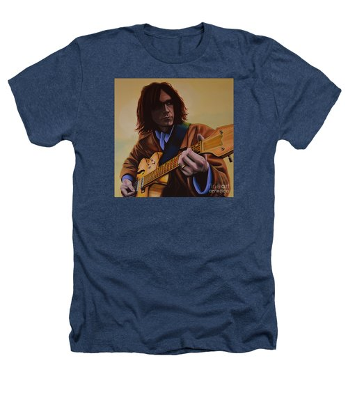 Neil Young Painting Heathers T-Shirt by Paul Meijering