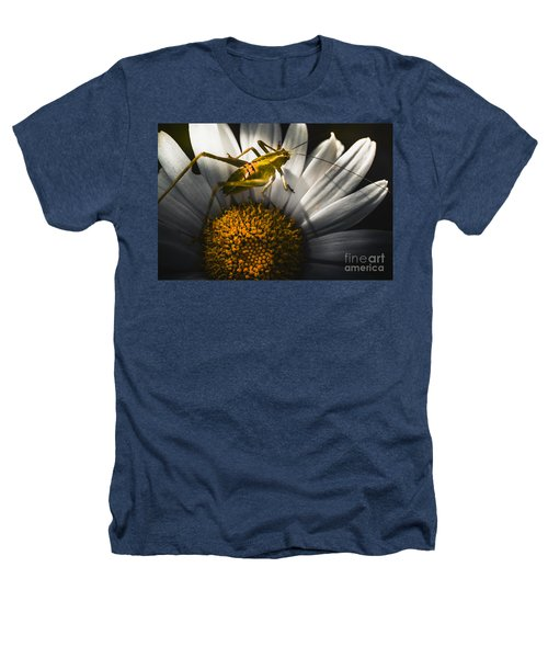 Australian Grasshopper On Flowers. Spring Concept Heathers T-Shirt by Jorgo Photography - Wall Art Gallery