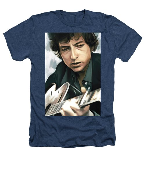 Bob Dylan Artwork Heathers T-Shirt by Sheraz A