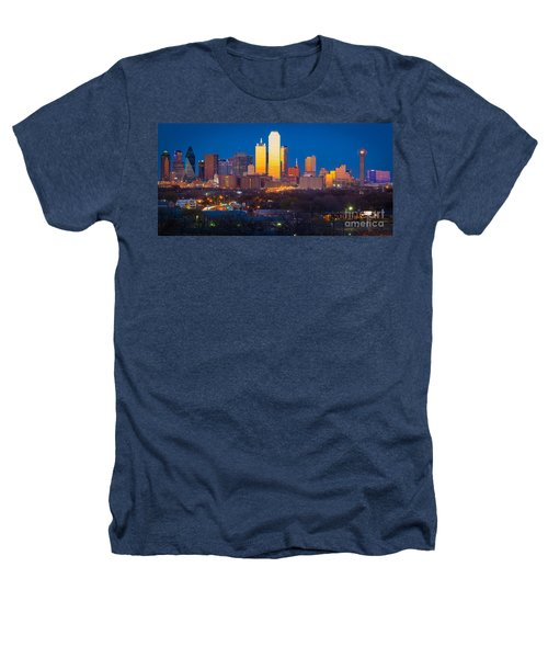 Dallas Skyline Heathers T-Shirt by Inge Johnsson