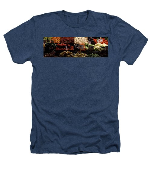 Fruits And Vegetables At A Market Heathers T-Shirt by Panoramic Images