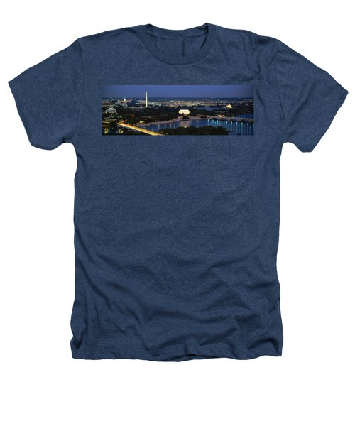 High Angle View Of A City, Washington Heathers T-Shirt by Panoramic Images