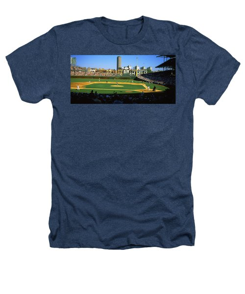 Spectators In A Stadium, Wrigley Field Heathers T-Shirt by Panoramic Images