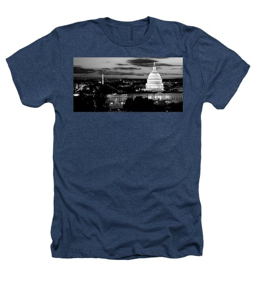 High Angle View Of A City Lit Heathers T-Shirt by Panoramic Images