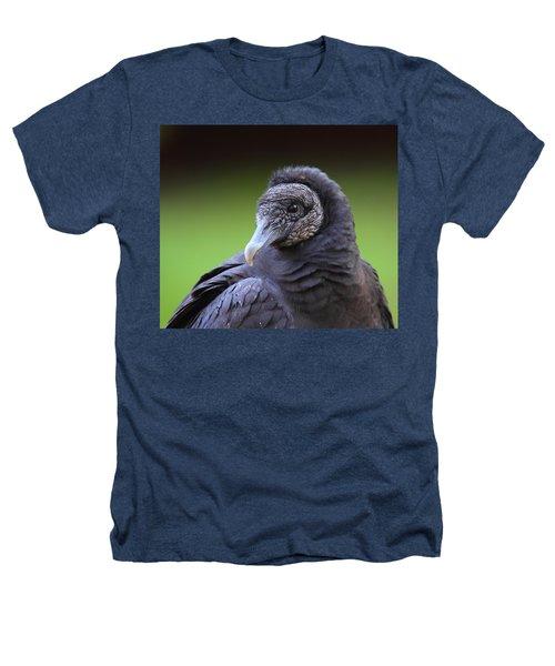Black Vulture Portrait Heathers T-Shirt by Bruce J Robinson