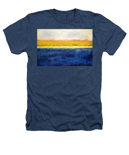 Abstract Dunes With Blue And Gold Heathers T-Shirt by Michelle Calkins