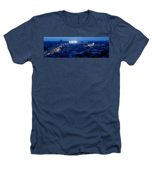 Aerial View Of A City, Wrigley Field Heathers T-Shirt by Panoramic Images