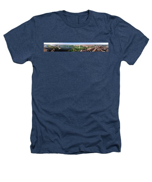 Aerial Washington Dc Usa Heathers T-Shirt by Panoramic Images