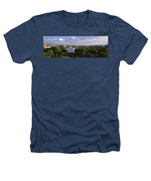 Aerial, White House, Washington Dc Heathers T-Shirt by Panoramic Images