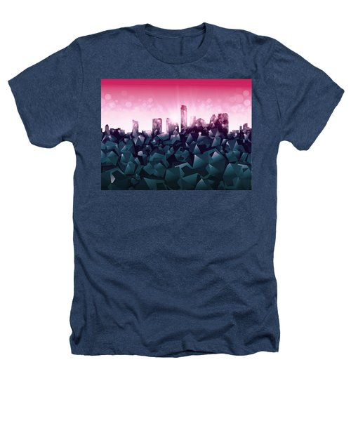 Austin Skyline Geometry 2 Heathers T-Shirt by Bekim Art