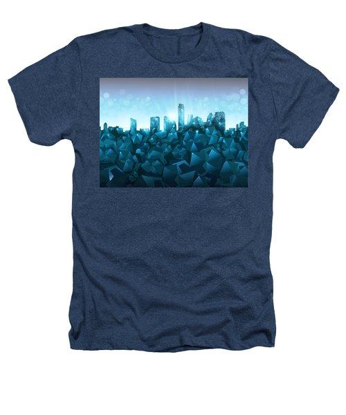 Austin Skyline Geometry 3 Heathers T-Shirt by Bekim Art