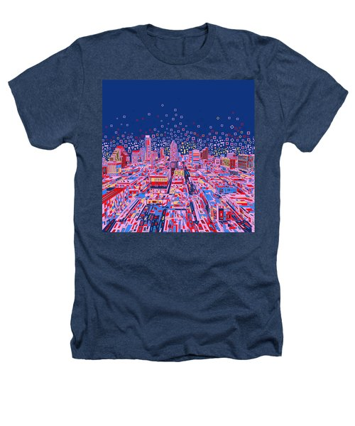 Austin Texas Abstract Panorama Heathers T-Shirt by Bekim Art