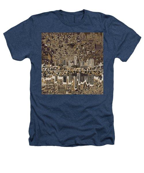 Austin Texas Skyline 5 Heathers T-Shirt by Bekim Art