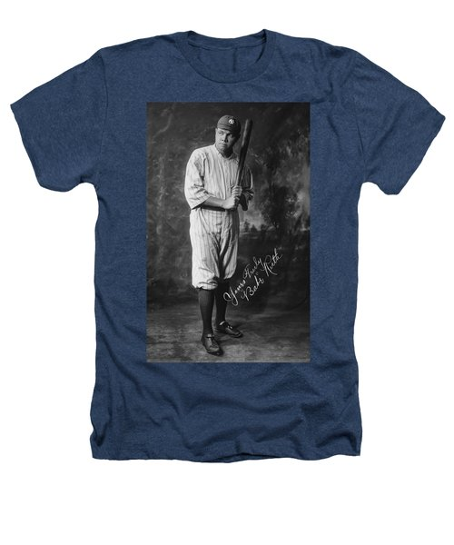 Babe 'the Sultan Of Swat' Ruth  1920 Heathers T-Shirt by Daniel Hagerman