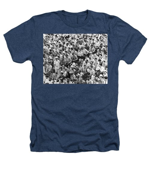 Baseball Fans In The Bleachers At Yankee Stadium. Heathers T-Shirt by Underwood Archives