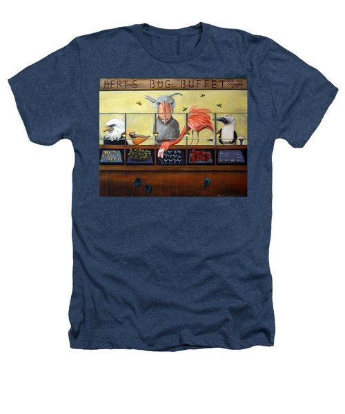 Bert's Bug Buffet Heathers T-Shirt by Leah Saulnier The Painting Maniac