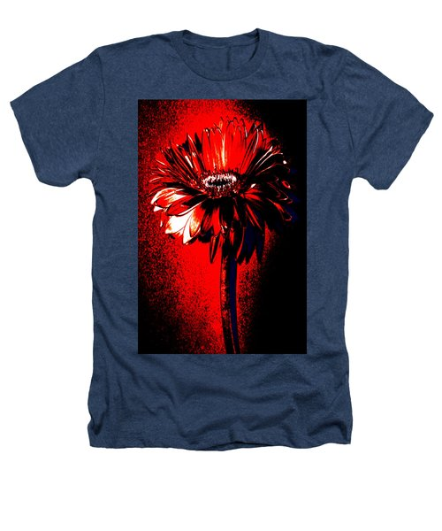 Bloody Mary Zinnia Heathers T-Shirt by Sherry Allen