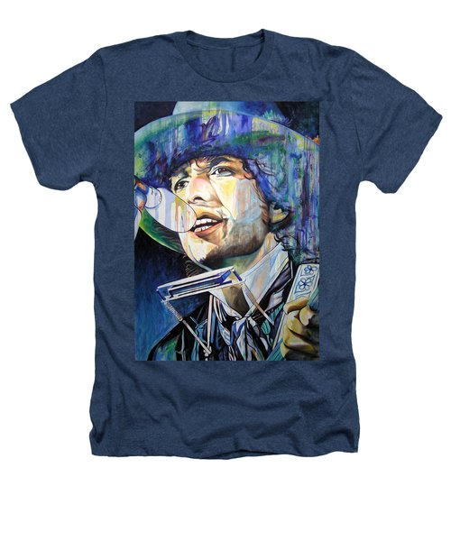 Bob Dylan Tangled Up In Blue Heathers T-Shirt by Joshua Morton