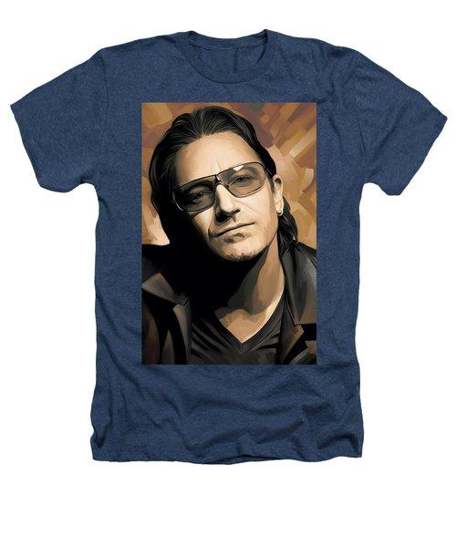 Bono U2 Artwork 2 Heathers T-Shirt by Sheraz A