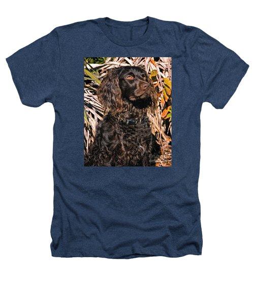 Boykin Spaniel Portrait Heathers T-Shirt by Timothy Flanigan