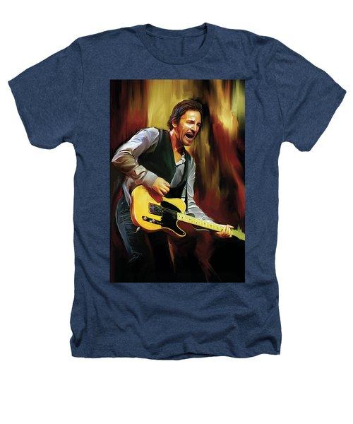 Bruce Springsteen Artwork Heathers T-Shirt by Sheraz A