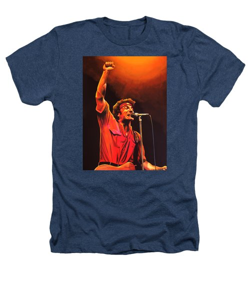 Bruce Springsteen Painting Heathers T-Shirt by Paul Meijering