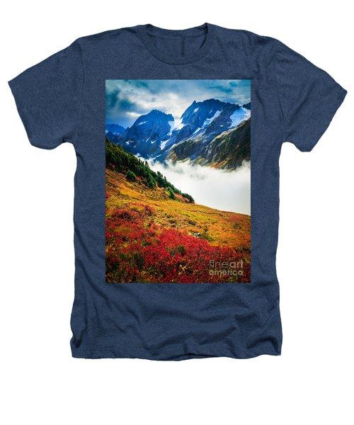 Cascade Pass Peaks Heathers T-Shirt by Inge Johnsson